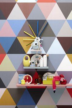 Geometric #wallpaper MOSAIC - @bienfaitparis