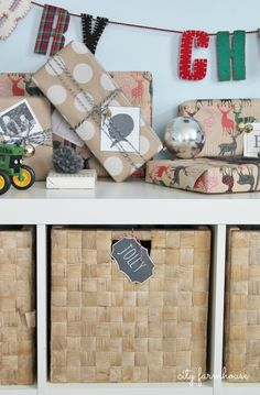 City Farmhouse -Fun gift wrap Ideas