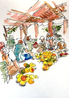 Urban Sketchers: Sketching in Goa: Part 3: The Best-est mango in the world!