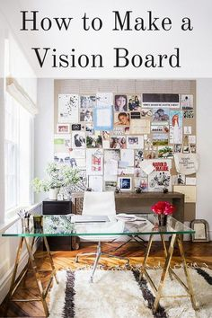 Save this DIY tutorial to help you make a vision board to help you work towards your goals.