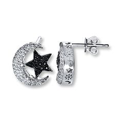 Artistry Diamonds Infinity Diamond Earrings 1/10 ct Blue/White Sterling Silver vAtK4c7Z