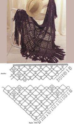 Diagram hæklet sjal