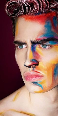 Avantgarde men Make Up
