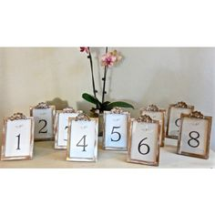 White Shabby Chic Wedding Table Numbers/Signs Photo Frames/Vintage... ($75) ❤ liked on Polyvore featuring home and home decor
