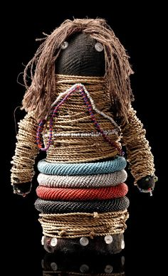 "Africa | Fertility doll ""gimwane"" from the Ntwani people of South Africa 