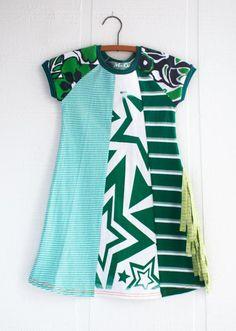 Courtney Courtney upcycled starpop dress with side fringe for girls