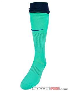 Nike Barcelona Away Socks >>Lifetime Return>> Green Barca Soccer Socks awesome color!