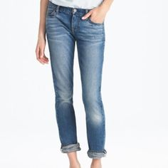 J CREW MATCHSTICK STRETCH Classic blue, excellent condition, nice stretchy pair of jeans. Excellent quality.  Fits true. Crop style! Size 31 inseam is 29 J. Crew Jeans Ankle & Cropped