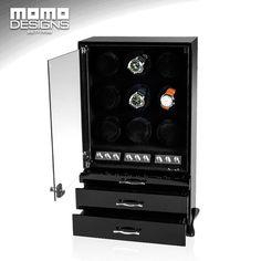 JAPAN mabuchi motor Core winder LUXURY watch string winder box cabinet wood