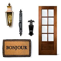New Orleans-Inspired Front Door - 4 Stylish Looks for Front Entry Doors - Southern Living Front Door Porch, Exterior Front Doors, Entry Doors, Front Entry, Entrance, New Orleans Decor, Creole Cottage, Hardware, Curb Appeal