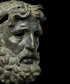 Head Of Poseidon/Antigonos Doson  Greek (Hellenistic), Bronze, 227-221 B.C.
