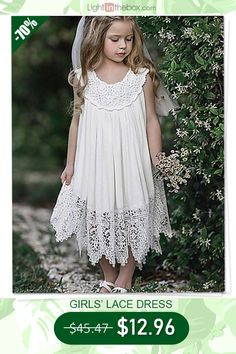 Cute gift for daughter. Shop now. Cute gift for daughter. Shop now. Girls Lace Dress, White Maxi Dresses, Little Girl Dresses, White Dress, Flower Girl Dresses, Flower Girls, Girls Dresses Online, Kids Girls, Kids Outfits
