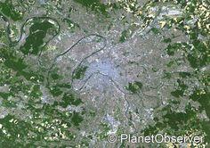 Paris, France – PlanetSAT satellite image