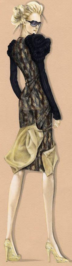 fashion illustration. pretty.