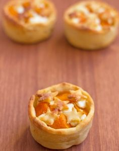 pumpkin goat cheese tart