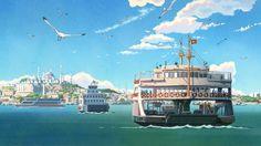 anime landscape backgrounds computer