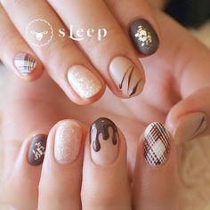 Luv Nails, Pretty Nails, Nail Designs, Beauty, Art Ideas, Chocolate, Work Nails, Nails, Clothing