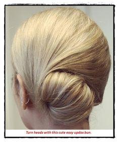 idea-3 cute easy updos for medium hair