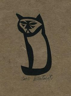 Cat1, willie Rodger linocut Animal Magic, Red Cat, Lino Prints, Wood Blocks, I Love Cats, Love Art, Cat Art, Printmaking, Screen Printing