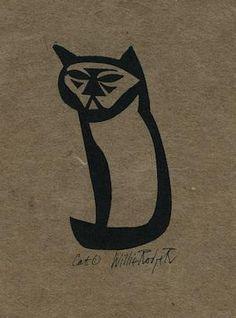 Cat1, willie Rodger linocut