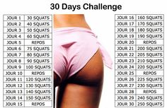 30 jours de squat pour des fesses de rêve !