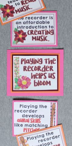 Music Advocacy Bulletin Board: Recorder Helps Us Bloom Music Teachers, Music Classroom, Music Education, Music Bulletin Boards, Music Worksheets, Reading Music, Recorder Music, Music Activities, Elementary Music