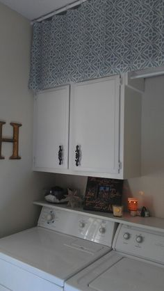 Storage solution and facelift to our small laundry room!