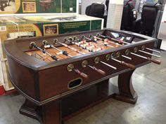 Foosball table with electronic scoring.  $450 at Costco
