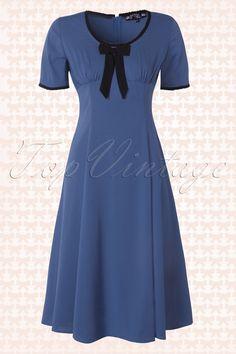 Bunny - 50s Alveira Dress Cobalt Blue