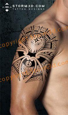 tribal-quartersleeve-maori-polynesian-tattoo-design
