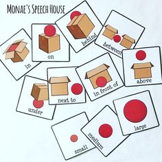 SPATIAL CONCEPTS Speech Therapy – This fun 20 page resource is great for your preschool, Kindergarten, and 1st grade students. Very helpful for special education and autism classrooms.  You get a interactive book, chart, cues cards, PECS / AAC device pictures, and large ball and box for a hands on activity. {preK, Kinder, first, special education, autism, speech therapy}