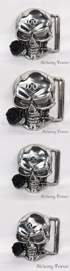 Belt Buckles 163542: The Alchemist Belt Buckle - Alchemy Gothic Skull And Rose Alchemical Totem -> BUY IT NOW ONLY: $45 on eBay!