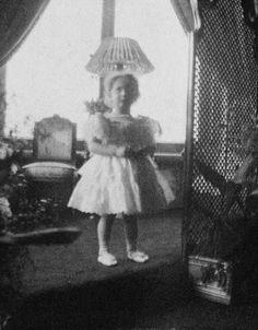 Toddler Tatiana in the Mauve Room 1899