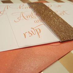 cool vancouver wedding A touch of glitter to complete the look! #weddingstationery #weddinginvitation #wedding #handmade #stationery #glitter #typography #krushdesignstudio by @krushdesignstudio  #vancouverwedding #vancouverweddingstationery #vancouverwedding