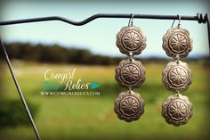 $18.00 Cowtown Western Concho Earrings – Cowgirl Relics www.cowgirlrelics.com