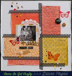 #papercraft #scrapbook #layout.  A Slice of Craftiness | Come On Get Crafty | Diane Payne