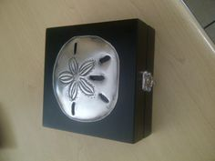 pewter pansy shell box
