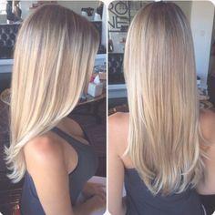 beautiful color & cut- hair looks super healthy