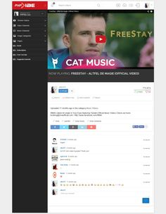 Video UI concept for www.phpvibe.com video cms