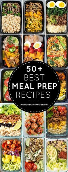 The Best Healthy Meal Prep Recipes, Clean Eating, For Breakfast, Lunch, Dinner, and For The Week