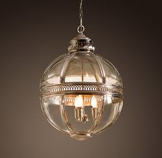 Victorian Hotel Pendant Polished Nickel - - pendant lighting - - by Restoration Hardware Foyer Lighting, Kitchen Pendant Lighting, Bathroom Lighting, Lighting Ideas, Lantern Pendant, Pendant Lights, Table Lighting, Industrial Lighting, Pendant Lamp