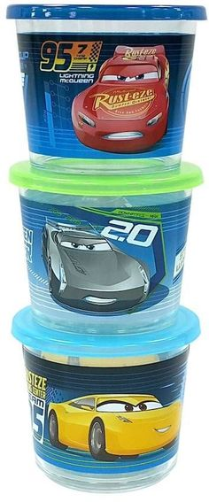 Disney/Jumping Beans Disney / Pixar Cars 3 Stacking Snack Containers by Jumping Beans®