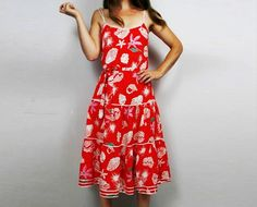 Red vintage shell dress @ http://www.etsy.com/shop/FrequencyVintage