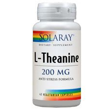 L-Theanine 200mg Anti-Stress Formula, 45 Vcaps, Solaray
