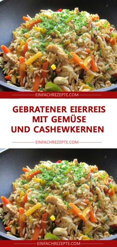 Fried egg rice with vegetables and cashew nuts 😍 😍 😍 - Apple pie -. - Fried egg rice with vegetables and cashew nuts 😍 😍 😍 – Apple pie – – # Apples - Healthy Snacks, Healthy Eating, Healthy Recipes, Fried Rice With Egg, Huevos Fritos, Vegetable Rice, Gordon Ramsay, Meal Prep, Dinner Recipes