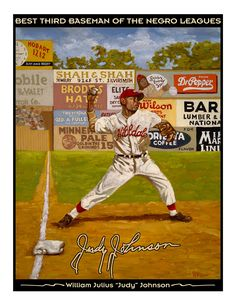 The Long Hard Throw-Judy Johnson by Dick Perez Baseball Painting, Baseball Art, Baseball Players, National Baseball League, Negro League Baseball, Sports Art, Sports Posters, Mlb Uniforms, Diamonds In The Sky