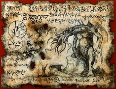 cthulhu larp Necronomicon Fragment RLYEH INCANTATION