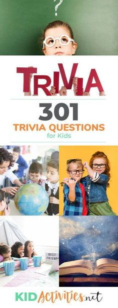 301 Trivia Questions - A collection of fun trivia questions for boys and for girls including: geography trivia, bible trivia, Christmas trivia, celebrity trivia, and much more. Indoor or outdoor your kids will be learning educational trivia Trivia Questions For Kids, Quiz Questions And Answers, Question And Answer, This Or That Questions, Facts For Kids, Jokes For Kids, Silly Jokes, Funny Memes, Kid Jokes