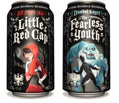 Grimm Brothers Brewhouse Legend Series Cans - designed by Emrich Office