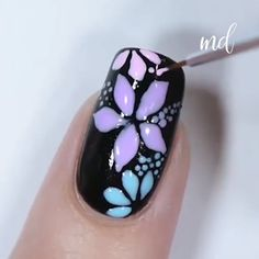 These nail deigns are just what you need for today Pretty Nail Art, Cute Nail Art, Nail Art Diy, Easy Nail Art, Beautiful Nail Art, Art Nails, New Nail Art Design, Nail Design Video, Nail Art Designs Videos